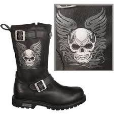 womens xelement boots s tribal skull motorcycle boot by xelement x29405