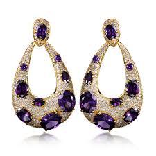 purple earrings aliexpress buy 4 colors big new fashion water drop earrings