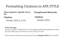 example of apa citation in paper your work note that apa