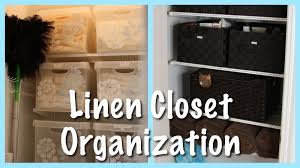 linen closet organization 2013 update youtube