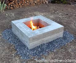 Modern Firepit Modern Diy Concrete Pit