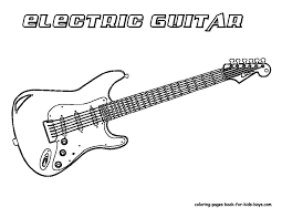 guitar clipart coloring page pencil and in color guitar clipart