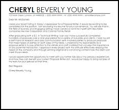how to write a cover letter for a proposal cover letter for