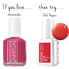watermelon u003d chili pepper essie gel polish colors that match
