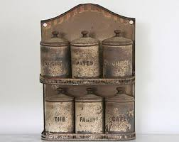 primitive kitchen canisters antique canisters etsy