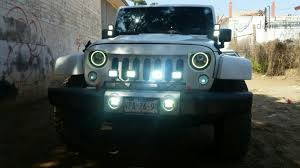 round led lights for jeep 7 round led headlights w switchback led halo rings for jeep
