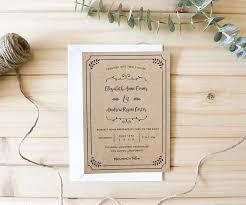 diy rustic wedding invitations diy wedding invitation templates 28 images my invitation