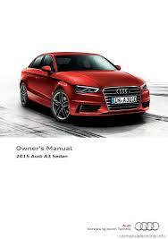 audi a3 sedan 2015 8v 3 g owners manual