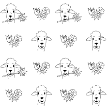 free printable spring coloring page sheep malseite freebie