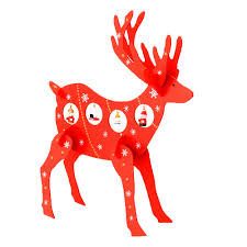 3d wooden assembling christmas deer bedroom home decor festival