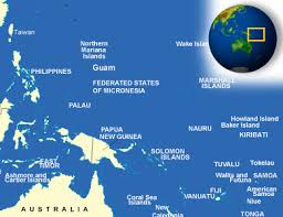 guam on map map of guam terrain area and outline maps of guam countryreports
