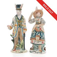 fitz and floyd dapper rabbit 5 25 painted earthenware salt