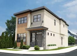 plan no 195361 narrow lot contemporary duplex house plan