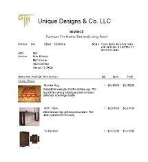 interior design invoice template sanjonmotel