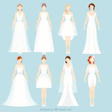 different wedding dresses 8 different wedding dresses vector free