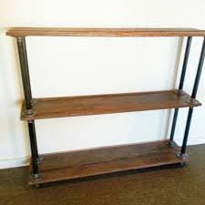 Metal And Wood Bookshelves by Maine Barn Wood And Metal Pipe Bookshelf Industrial Bookcase
