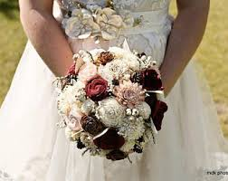wedding flowers rustic rustic bouquet etsy