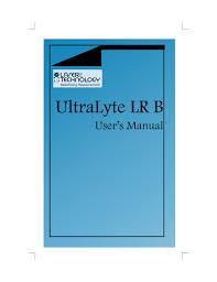 lti ultralyte lr b manual