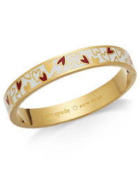 gold heart bangle bracelet images Kate spade new york gold tone colored heart bangle bracelet tif