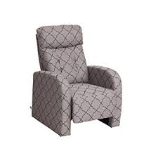 Fabric Recliner Chair Viva Home Fabric Recliner Chair Grey Lozenge Pattern