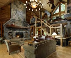 cedar home living room traditional with stone fireplace white