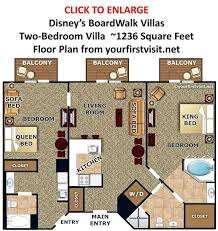 disney boardwalk villas floor plan photo tour of the master bedroom and baths of a one bedroom villa