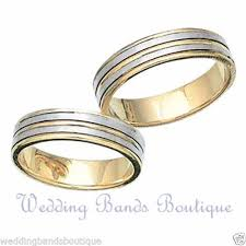 wedding rings his hers his matching bridal set wedding rings bands 14 k white yellow