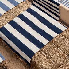 Navy And White Outdoor Rug Catamaran Stripe Indoor Outdoor Rug In Navy Blue And Nursery