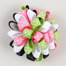 ribbon hair bows ribbon hair bow ideas green and pink poof ribbon hair bow bows