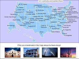map us landforms u s national landmarks