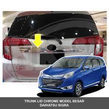 Daihatsu Sigra Trunk Lid Cover Chrome jual trunk lid chrome model besar daihatsu sigra di lapak cozy shop