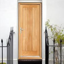 Hardwood Door Frames Exterior Prefinished External Wooden Door Frame Sets With Locking System
