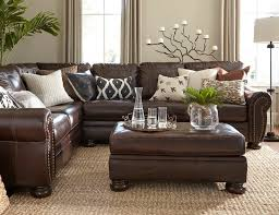 Living Room With Brown Leather Sofa Living Room Leather Living Room Sectional Decorating With