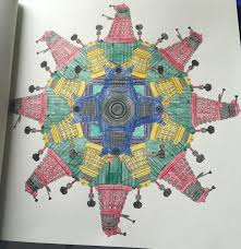 doctor colouring book dalek mandala metallic gel pens