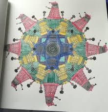 doctor who colouring book dalek mandala using metallic gel pens