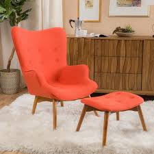 Chair Ottoman Set Hariata Fabric Contour Chair With Ottoman Set By Christopher