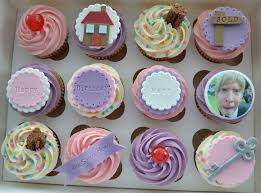 personalised cupcakes paper cakes happy birthday new home personalised cupcake