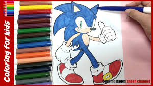 sonic the hedgehog coloring book coloring for kids from coloring