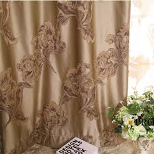Brown Floral Curtains Brown Floral Jacquard Blackout And Thermal High End Curtains Buy