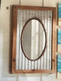 corrugated metal rustic mirror pieces to make pinterest