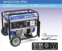 westinghouse whxc3750 pro portable generator