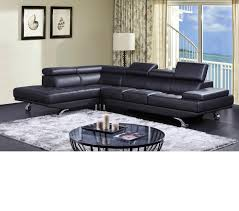 Modern Leather Sectional Sofa Dreamfurniture Com Divani Casa K8472 Modern Leather Sectional Sofa