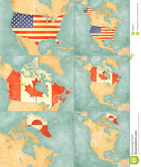 Map Of Canada And Usa by Map Of North America Usa Canada And Greenland Royalty Free