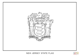 flag of new jersey coloring page free printable coloring pages