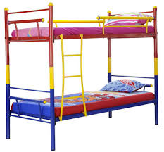 Full Size Metal Loft Bed With Desk by Bunk Beds Red Yellow Blue Metal Bunk Bed Full Over Full Bunk