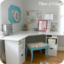 Craft Table Desk Pitterandglink Craft Room Corner Desk