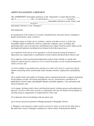 Simple Authorization Letter Act Behalf sample artist management agreement royalty payment expense
