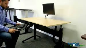 Electric Adjustable Height Desk by The Vertdesk Electric Adjustable Height Desk Youtube