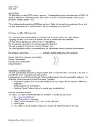 algebra eoc study guide northshore district