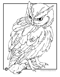 burrowing owl clipart printable coloring page 2682924